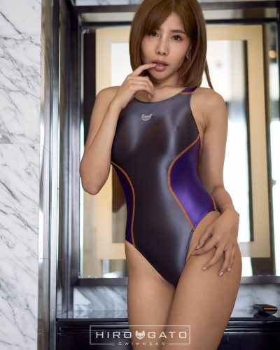 Swimsuit Anthracite Purple